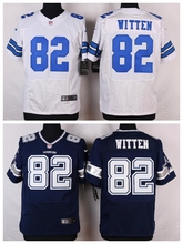 Dallas Cowboys #82 Jason Witten Elite White and Navy Blue Team Color High quality free shipping(China (Mainland))