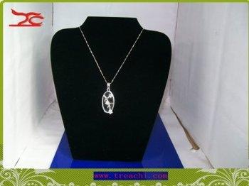 (Min order$10) Necklace Display medium Necklace stand in black velvet