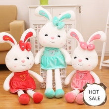 Formal quality assurance Long legs lovely rabbit plush toys cartoon doll doll sleep pillow creative birthday gift for children