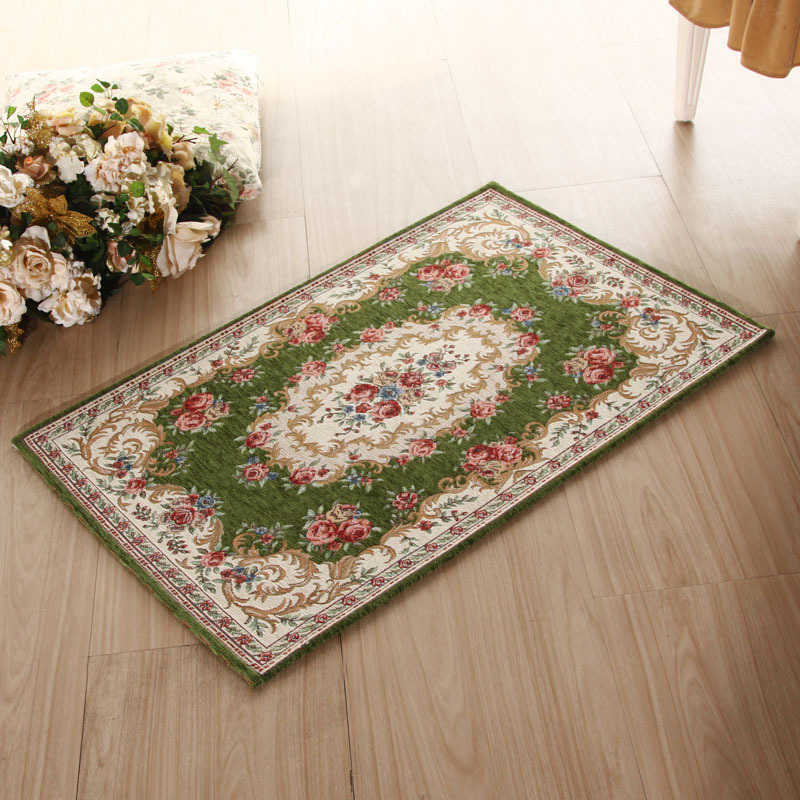 rug under a dining table