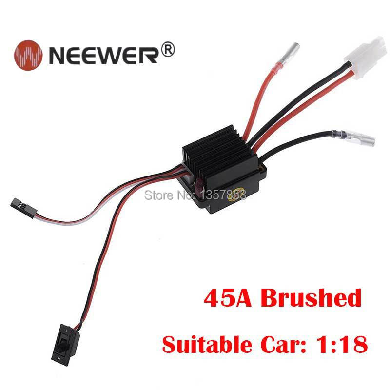 NEEWER Waterproof Brushed/Brushless Esc Motor Speed Controller for RC Car (45A Brushed), Free Shipping!!(China (Mainland))
