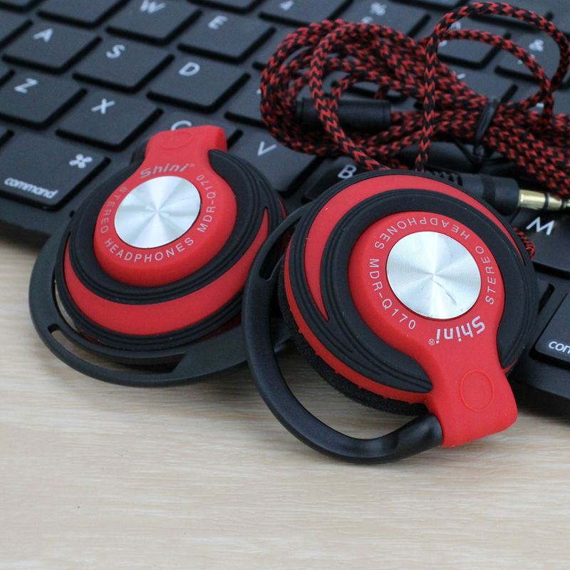 ShiniQ170 Headphones 3.5mm Headset EarHook bass Earphone For Mp3 Player Computer Mobile Telephone Wholesale(China (Mainland))