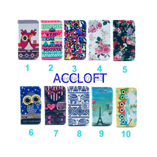 10pcs Lot Cute Cartoon Owl Keep Calm Flower Wallet Pu