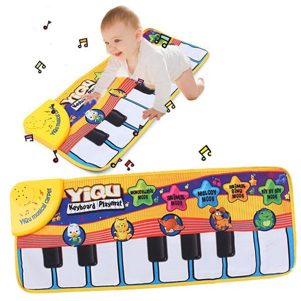 Hot new Touch Play Singing Piano Keyboard Music Carpet Mat Blanket Educational Soft baby kids Toys