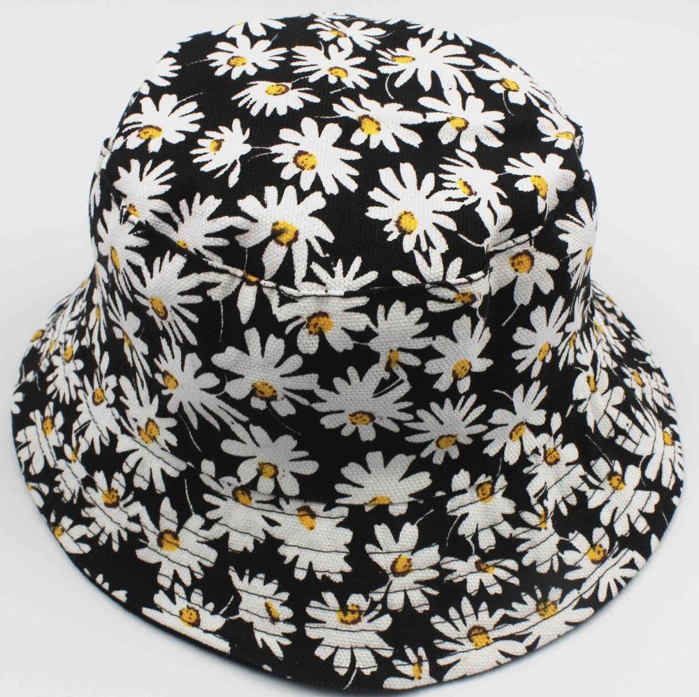 Bucket Hats Flowers Flower Printed Bucket Hats