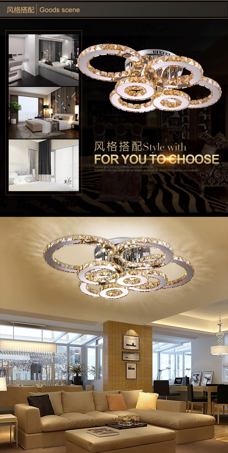 Led ceiling lamps round color remote control lamp bedroom light the luxurious multi pendant light fixture are necessary items in those beautiful european style houses the glittering crystals and shining lights of arubaitofo Choice Image
