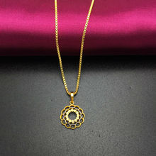 Wholesale Free shipping 24k gold Pierced Flower pendant necklace Fashion necklace necklace&pendant  fashion men's jewlery  A183