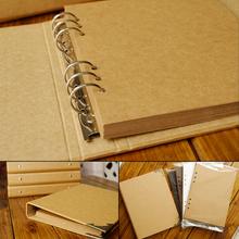 Blank Cover loose-leaf craft paper album graffiti diary photoalbum handmade DIY Photo Album fotoalbum Scrapbooking wedding album(China (Mainland))