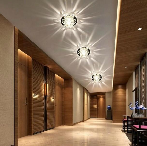 3W crystal light ceiling lamp bedroom restaurant aisle balcony modern home lighting AC85-265V white/warm white abajur luminaria - Shenzhen Rise-Top Technology Co.,LTD store