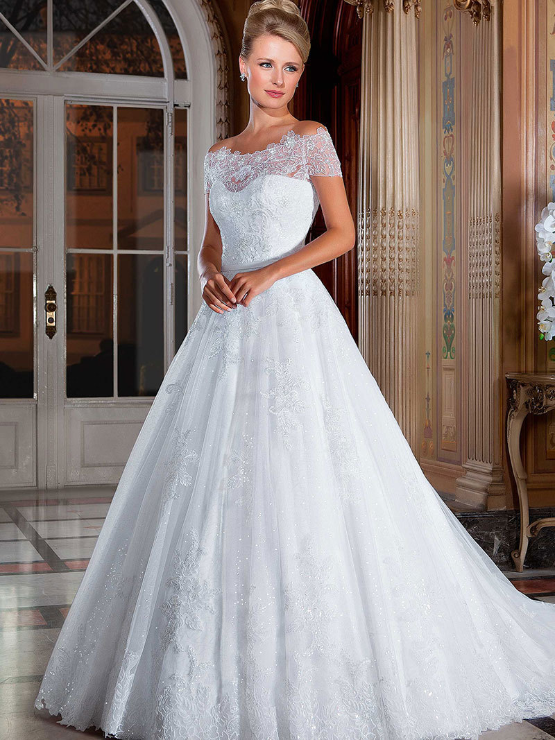 vestidos de noiva 2015 Robe de mariee Romantic Long Wedding Dresses ...