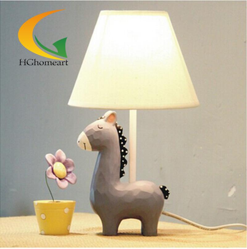 modern minimalist desk lamp creative kids cartoon donkey hor
