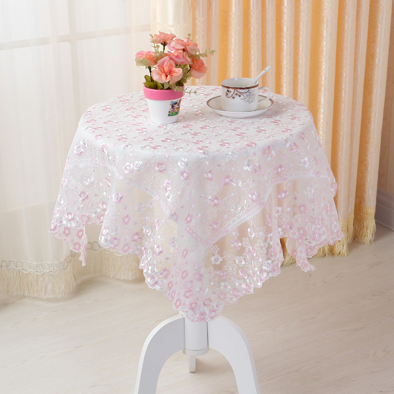 Hot Sale Many Sizes Elegant Polyester Tablecloth Full Lace Tablecloths For Wedding Party Home Table Topper Cloth Cover Overlays(China (Mainland))