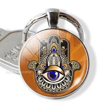 7 Chakra Yoga Om símbolo llavero colgante de las mujeres de los hombres Vintage coche llave Cadena clave indio joyería de meditación(China)