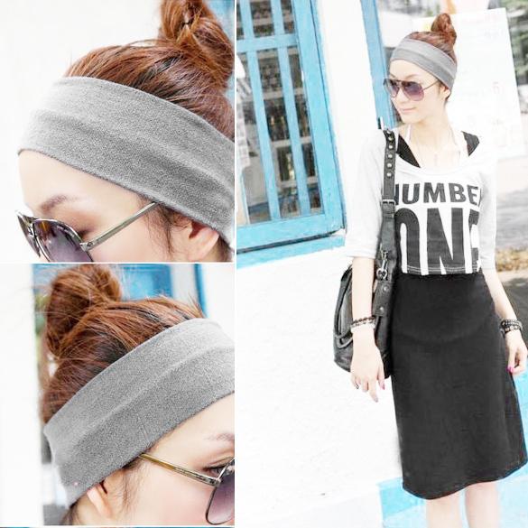 2Pcs Cotton Elastic Headband Women Yoga Fitness Running Hair Strap 7 Colors Lovely(China (Mainland))