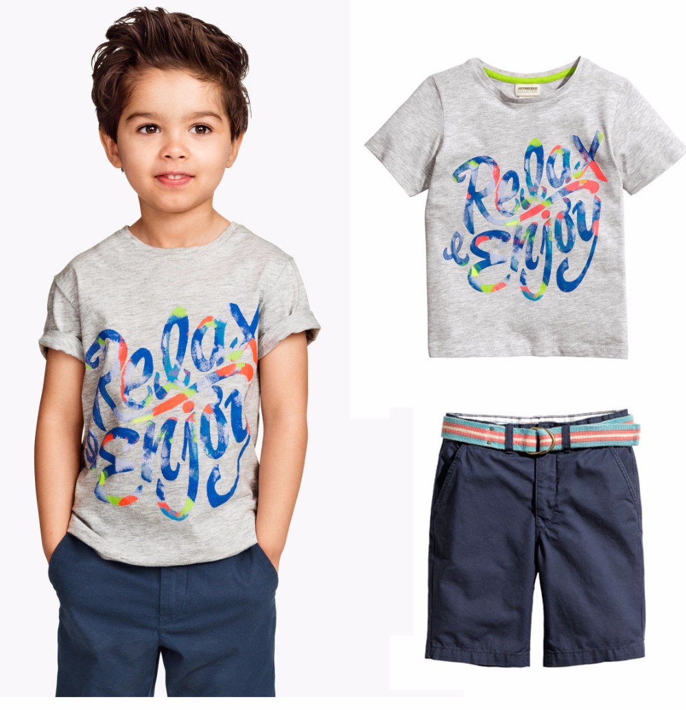 2016 new fashion summer style children clothing sets letter boys casual shorts suits kiids clothes outfits - baby_mart store