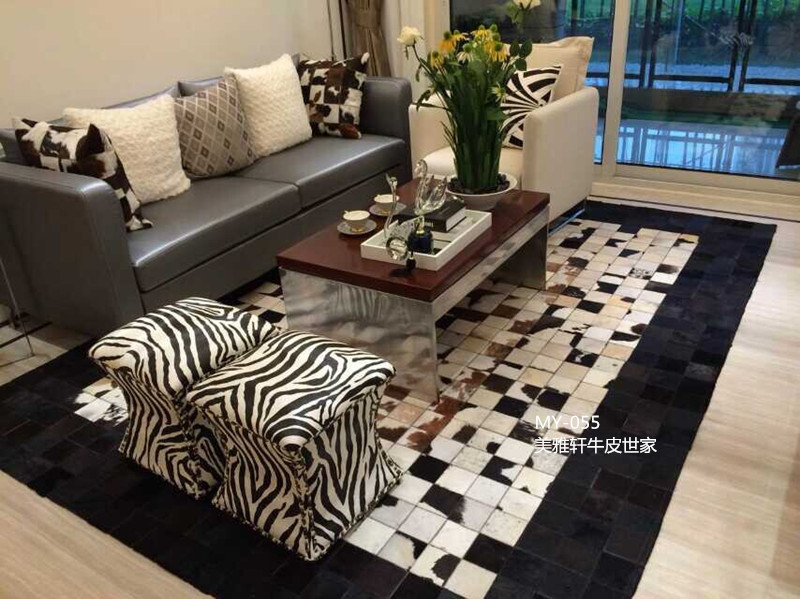 2016 free shipping 100% natural genuine cow leather green grass carpet(China (Mainland))