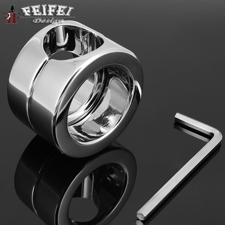 Здесь можно купить  A536 scrotal load-bearing ring stainless steel The cock penis JJ ring testicles tied 620 g adult things  Красота и здоровье