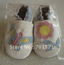2012 new styles Guaranteed 100% soft soled Genuine Leather baby shoes free shipping1014(China (Mainland))