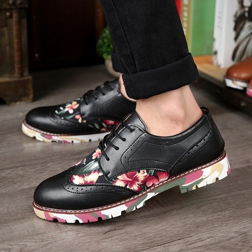 Men Design Leather Comfy Shoes Male Lace-up breathable New 2015 Fashion Mens Casual Men's Flats Low men Oxford  -  JULIE FASHION STUDIO 232023 store