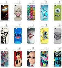 Mobile Phone Case Hot 1pc Skull Owl Spongebob Hybrid Design Protective White Hard Case For Iphone 6 6S Free Shipping