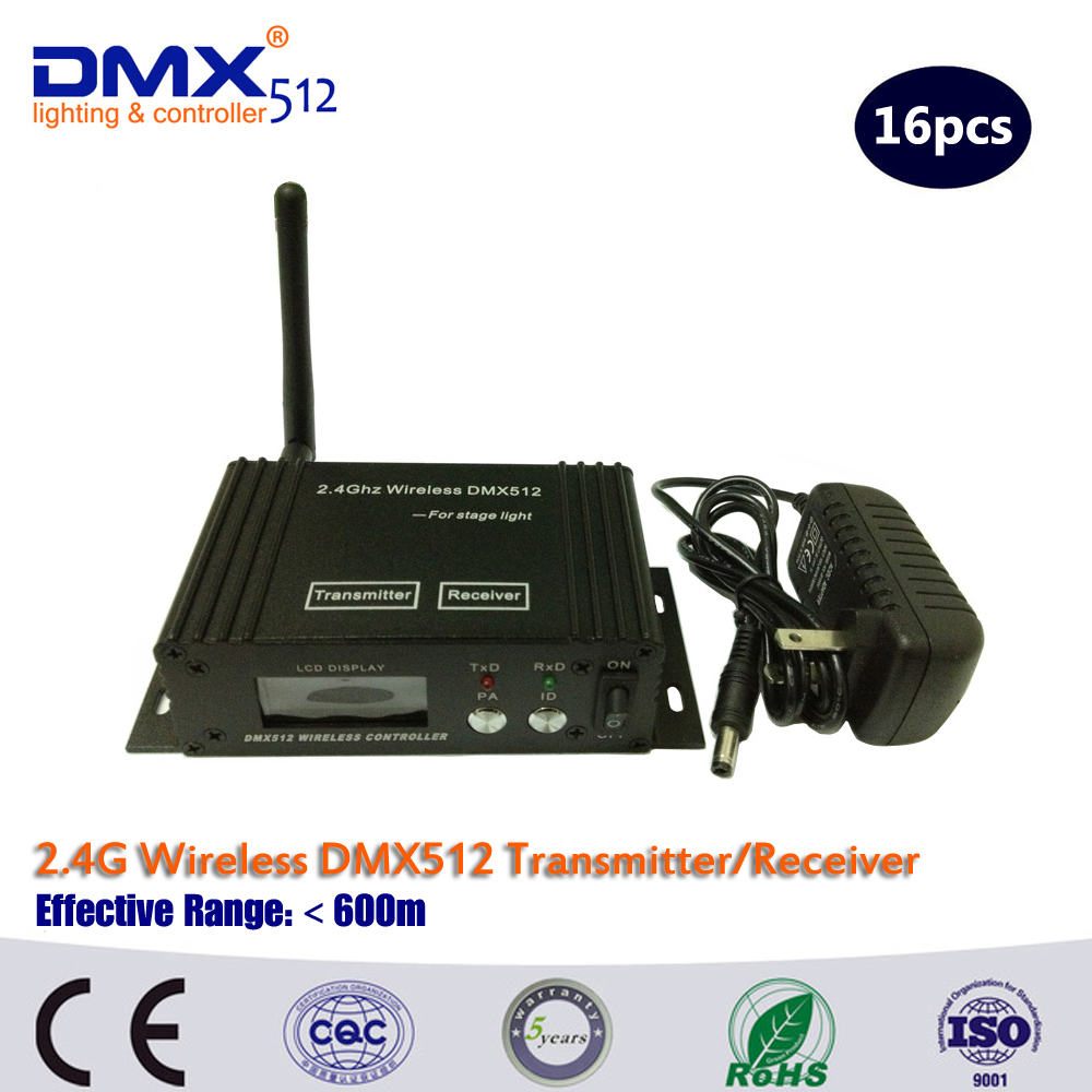 DHL/Fedex Free Shipping Wireless DMX Receiver And Wireless DMX Transmitter LED Lighting Wireless DMX Controller(China (Mainland))