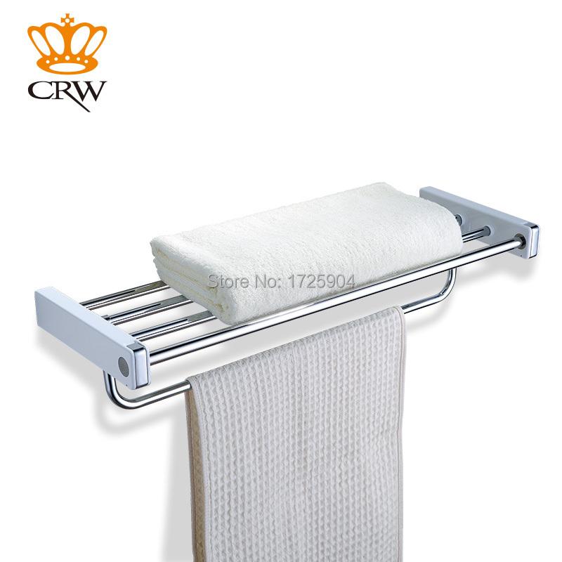crw f3012 modern copper towel rack holder bathroom shelf. Black Bedroom Furniture Sets. Home Design Ideas