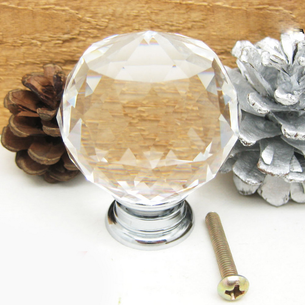 round glass cabinet drawer crystal knobs and handles dresser door knob