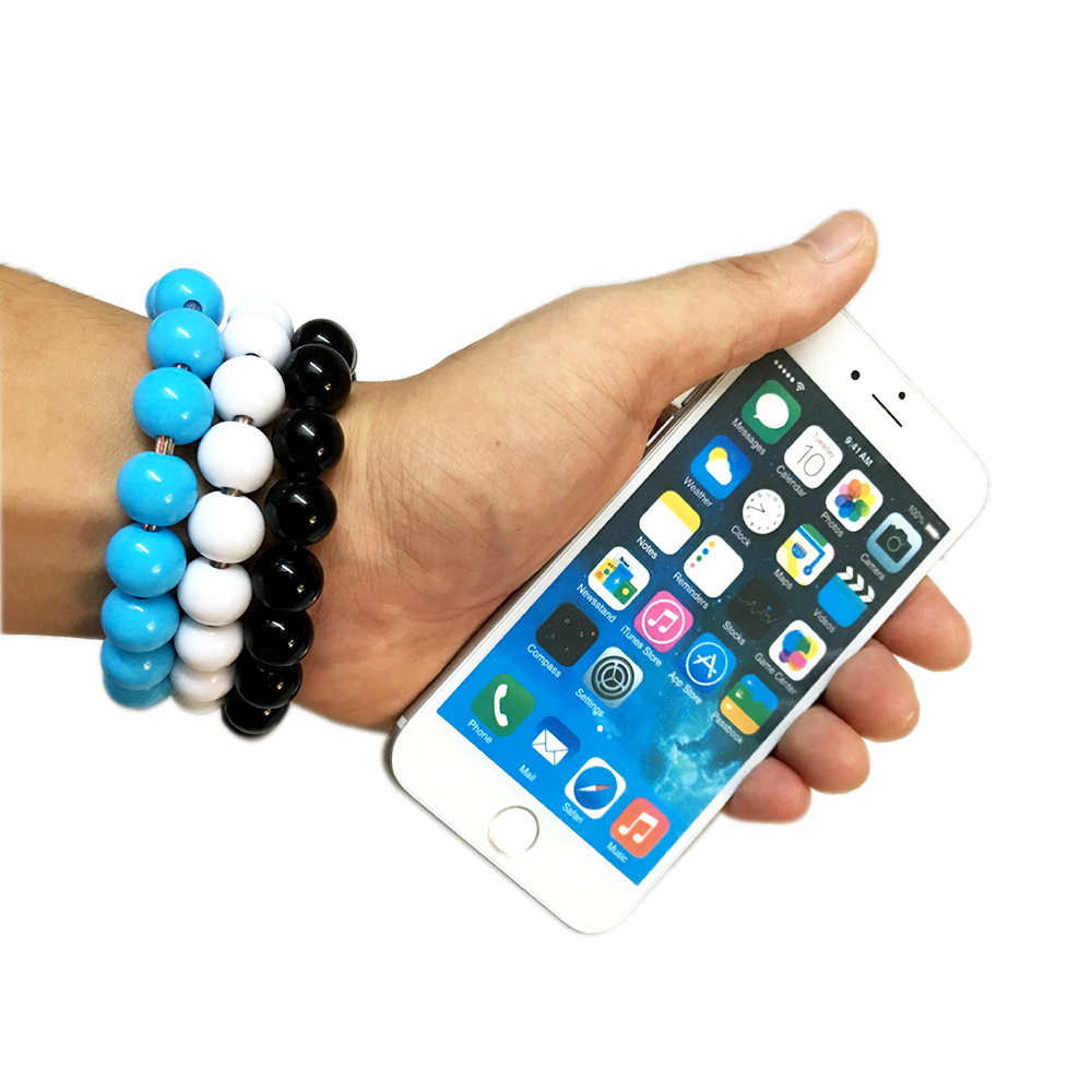 8 Pin 24CM Durable Wearable Wristband Cable For iphone SE 5S 6S Plus Wrist Band Bead USB Charger Jewelry For Samsung Android 1C3(China (Mainland))