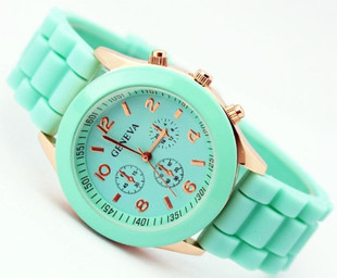 Free Shipping Watch Geneva Silicone fashion student table multicolor quartz watches(China (Mainland))