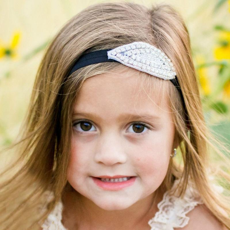 2015 new kids girls headbands high-grade design Europe America children's handmade beaded rhinestone headband SSFS-1054 - Happy growing store