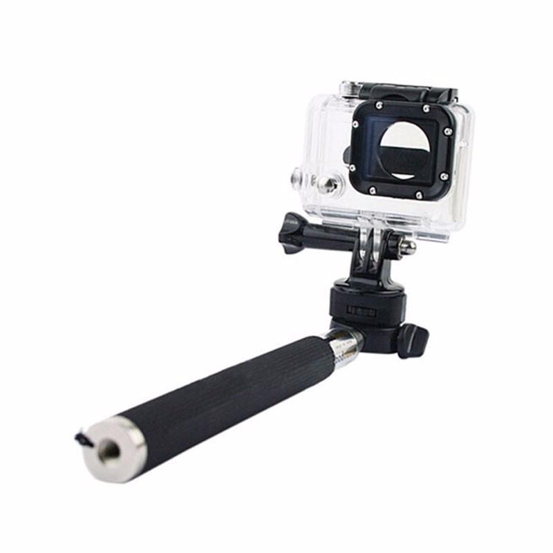 Gopro Extendable Handheld Selfie Stick Monopod Mount Adapter Tripod For Go pro Hero 3+ 4 SJ4000 Xiaomi yi Accessories Cell Phone