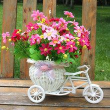 White Tricycle Bike Design Flower Basket Storage Container DIY Party Weddding casamento Decoration Supplies