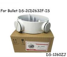 Staffa cctv 1260zj, bianco lega di alluminio di un cilindro macchina scatola di giunzione, per ds-2cd2632f-is DS-2CD2642FWD-IS(China (Mainland))