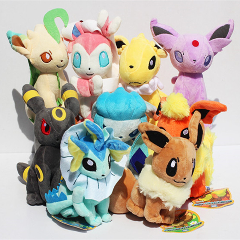 Pokemon Plush Toy Pokemon Eevee Family Movies &amp; TV Plush Toy Doll 9 Dolls Soft Stuffed Animals &amp; Plush 9pcs/set<br><br>Aliexpress
