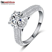 Buy LZESHINE 2016 New Christmas Gift Engagement Rings Siler Color Inlay AAA Cubic Zircon Jewelry Rings Wholesale CRI0122-B for $2.78 in AliExpress store