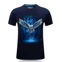 2018 Marchio di abbigliamento 3D Magliette e camicette & Magliette Casual tshirt homme Hip Hop Uomini della MAGLIETTA di Modo di animale stampato T-Shirt di Fabbrica prezzo camisetas(China)