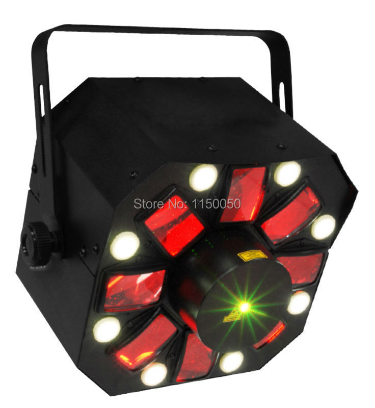 Fast free shipping New arrival flash+led+laser 3 in 1 home party kit stage LED disco effect light(China (Mainland))