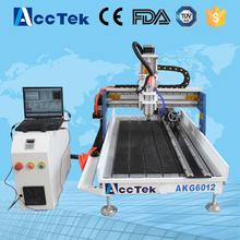 Acctek hot sale aluminum cnc engraver 6012/3d cnc gravestone engraving machine 6090