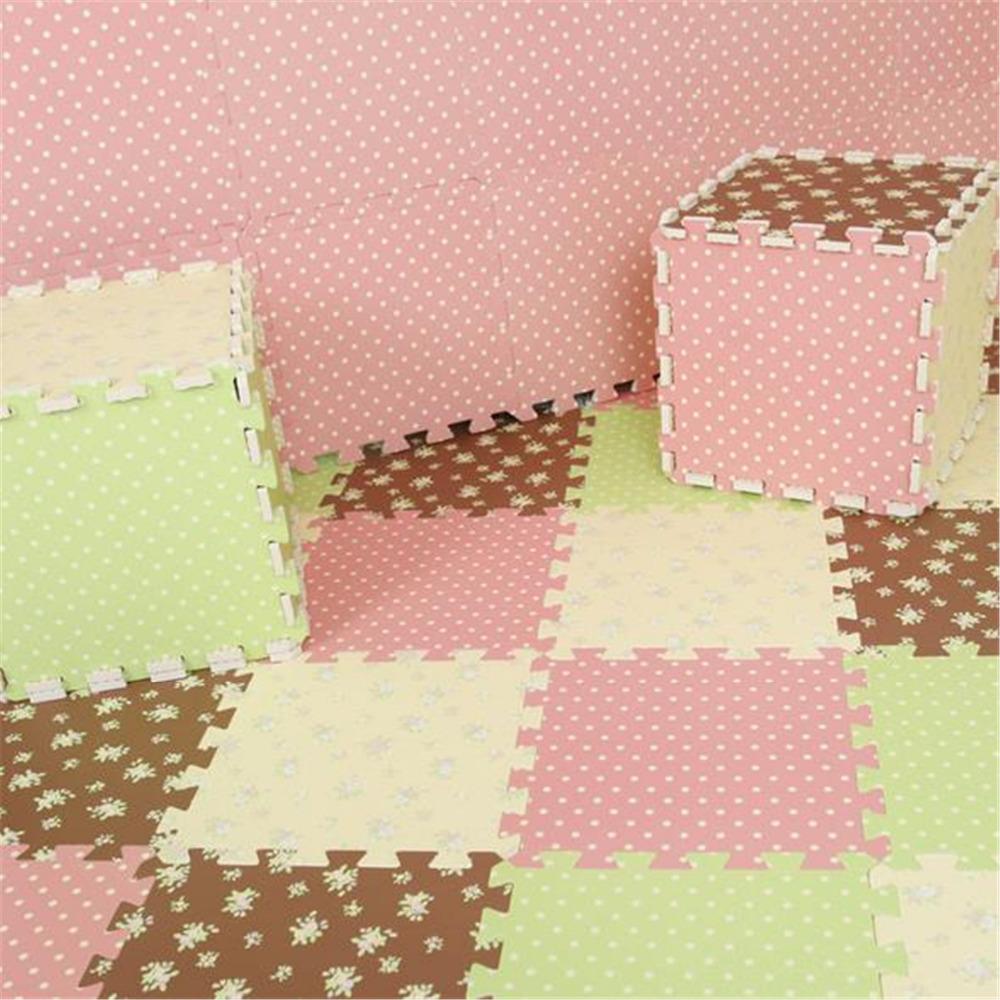tapete infantil, 2015 safety baby floor mats eva home decor dot rural style suelo foam puzzle mat be carpet E7(China (Mainland))