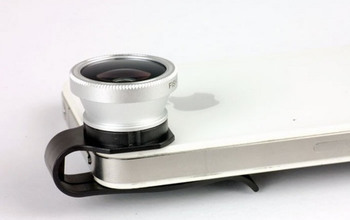 Free shipping clip lens For Apple iPhone 4/4S/5 can clamp type for iphone 4/5 mobile phone external clip lens