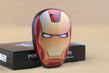 Cartoon Anime the Avengers Iron Man Mobile power supply 12000mAH Energy saving Charger Port External Battery Pack Power Bank(China (Mainland))