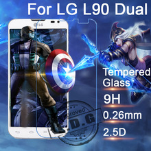 0.3mm 9H Explosion Proof Anti scratch Tempered Glass Film For LG L90 Dual D410 Screen Protector Film + cloth