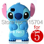 stich 3D Silicone Soft Cover Back Case iPhone 5 Blue - yin zhou's store