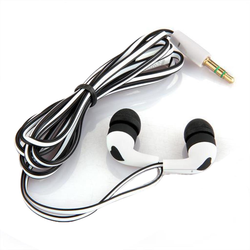 2015 New Fashion 3.5mm Stereo In-ear Earbud Headphones Earphone Headset for iPhone 5 5s 4 White + Black Wholesale(China (Mainland))