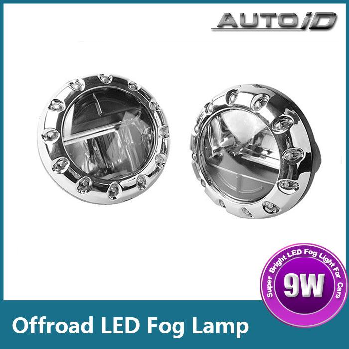 New Bright 9W 12V Offroad LED Fog Light Head Lamp Car Truck 4WD ATV SUV Daytime Running Light<br><br>Aliexpress