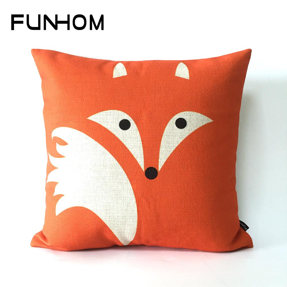 Creative Animal Red Fox Pillow Cushion Cartoon Home