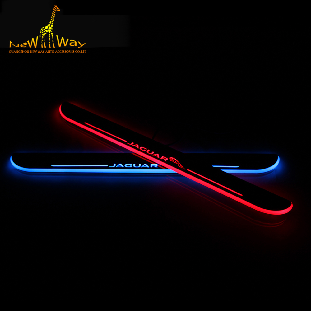 LED Door Scuff Plate Lights LED Door Sill Plate for Jaguar XF 2012 2013 2014 2015 LED Moving Door Scuff Light<br><br>Aliexpress