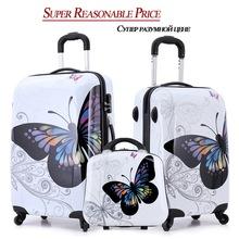 20 » 24 » дюйма удивительно горячей продаж япония бабочка ABS тележка чемодан багажа / багажник / путешественников чехол коробка с счетчик колесные