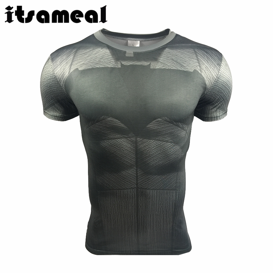 Batman VS Superman T Shirt Tee 3D Printed T-shirts Men Short sleeve New Cosplay Costume Fit Gym Clothing Tops - ANHUI RUIQIQIAN TRADE CO,. LTD store