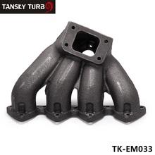 Buy TANSKY T3 Top Mount Cast Iron Turbo Manifold 38mm Wastegate Port Honda Civic B16 B18 B-Series TK-EM033 for $37.01 in AliExpress store